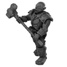 orc knight 2 handed hammer orc orc boss orc warrior orc knight 2 handed hammer two handed hammer d&d dnd d&d5e dungeons and dragons resin miniature lychee presupported pre-supported