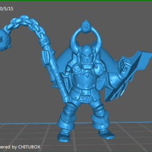 orc smasher varios caos el caos de guerrero el caos del ejército heroquest warhammer de la fantasía parte superior de la mesa no molestar armadura pesada wh40k