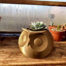 owl planter animal owl flowerpot planter pot ave suculent cactus garden toy