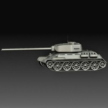 panzer t-34 weapons tank art printable model high poly gadget