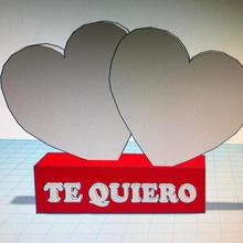pedestal corazones te quiero tool amor corazon corazones love pedestal san valentin te quiero 3d printing