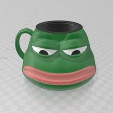 pepe sad cup glass mug home cup glass pepe sad toad sadfrog memes meme pepethefrog frog pepemes