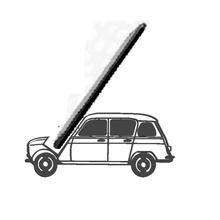 teléfono soporte voiture renault 4l teléfono soporte renault 4l coche vehiculo apoyo teléfono teléfono pose rac smartphone coche vehiculo carrera Clásico carreras renault colección 4l autobuses