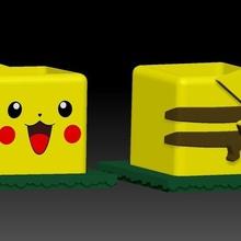 Pikachu pokemaceta artilugio pokemon maceta plantas Pikachu