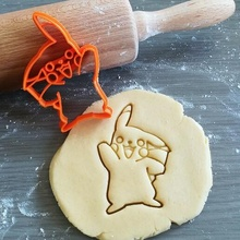 Pikachu Pokemon biscotto taglierina giochi Pikachu Pokemon animazione biscotto cottura biscotto taglierina Impasto forma cucina infornare biscotti speculoos