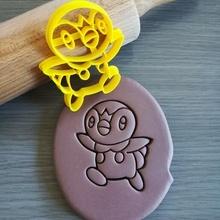 piplup Pokemon biscotto taglierina giochi piplup Pokemon animazione biscotto cottura biscotto taglierina Impasto forma cucina infornare biscotti speculoos