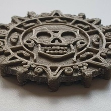 pirate coin pirate currency medallion caribbean skull