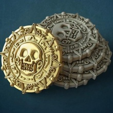 pirate coin jewelry coin pirate caribbean black pearl sea skull 3dprint cnc print coins