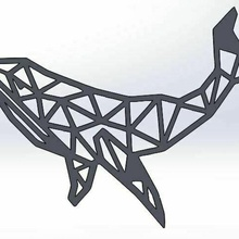 poli baleine bleu baleine poisson mur ornement pendentif animal cétacé