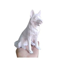 poly dog german shepherd low poly geometrico statue dog german shepherd