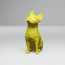 poli Fransızca bulldog düşük poli Fransızca bulldog köpek Şirin küçük memeli oyuncak Sanat dekorasyon heykel şekil hayvan