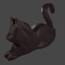 poly sitting cat art cat poly animal decoration fun freetime corona covid cute ender bust among us statue art animal crossing