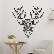 polygonal deer head 2d decor art wall decoration decor 3d 2d art deer panel panel deer deer art deer decoration deer wall art deer polygonal deer 2d art deer decor