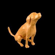 poligonale cane v20 art poligonale low poly la scultura giocattolo art houdini tevo beagle animale cane