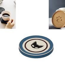 porta taza caffe gato gato porte tasse coste flete portal café plato plano hogar casa cocina cocina