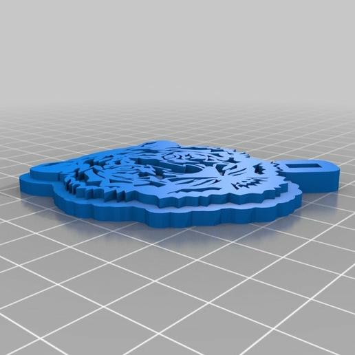 porte clef tigre 3d_print