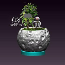 conserva astronauta planta maceta plantas maceta matera jardín astronauta universo Luna planetas espacio