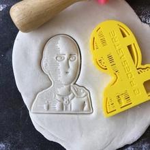 yumruk adam Saitama kurabiye kesici gadget anime yumruk adam Saitama kurabiye kesici yemek pişirme pişirme pişmiş kurabiye