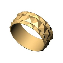 pyramid 3 row band us size 5to11 3d print model faceted facet geometric ring fashion jewelry printable gold silver jewellery sterling modern lowprofile diamond pyramid band stackable vintag eternity pyramid band