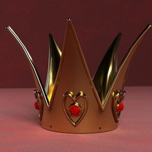 Königin Herz Krone rot von tim burton royal Kleid party coslpay Wunderland alice