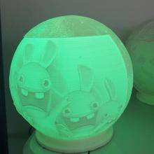Kaninchen Lampe Litophanie Kaninchen Idioten Tim Struppi schneebedeckt herge Lampe LED Kugel Ambiente Beleuchtung klopfen patrouillieren mickey Minnie Disney Globus Kind Licht Nacht Licht Krieg Sterne Königin
