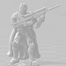 aleatorio espacio francotirador 28 mm ciencia ficción syfy guadaña espacio mesa juego guerra juegos