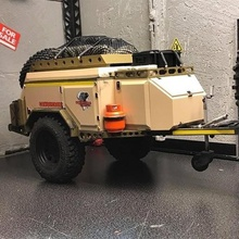 rc 1 10 trailer scale conqueror uev360 off-road various trailer camper offroad axial trx4 scx10 rc4wd 1 10 scale raffee team defend d110 d90 crawler rc camping trailers landrover body realistic adventure cell dinky zodiac zodiak boat traxxas conqueror uev