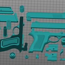 replic airsoft gun tool colt colt1991 1991 3d print airsoft gun glock pistola proyectil arma 9mm stl eeuu 360