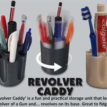 revolver caddy home workshop work weapon useful toothbrush holder toothbrush tooth paste holder tooth tidy storage stationery stand spinning rotating rifle revolver caddy revolver present practical pen holder pen organizer organization organiser office accessory office muzz64 moving parts moving mens kitchenware kitchen inique household home holder handy gun gift gamesworkshop functional fun desktop desk designer cool christmas caddy brush birthday bathroom accessories bathroom