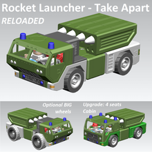 rocket launcher - take apart reloaded game launcher rocket playmobil lego duplo toddler nut screw truck fire toy take apart