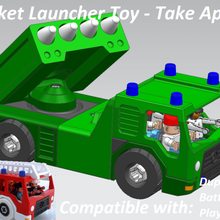 rocket launcher - take apart gadget launcher rocket playmobil lego duplo toddler nut screw truck fire toy take apart