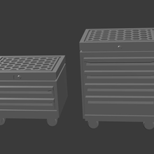 rolling tool chests tabletop terrain roleplay pathfinder fallout wasteland dungeons and dragons games miniatures 28mm props