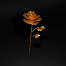 rosa rosa ouro Espinho arte romance rosa dourada stl