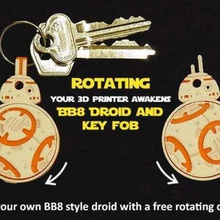 rotating bb8 droid bb8 key fob jewelry keychains wars war unique toy star wars star scifi rotating print place print-in-place present organization novel moving movie model key fob key chain keyring keychain key gift fun fob droid designer cute collectible bb8 droid bb8