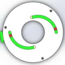 rotating iris diaphragm-2 blades mechanical mechanism gear shutter camera door laser cut 3d print blade window mechanical iris iris mechanism iris diaphragm robot