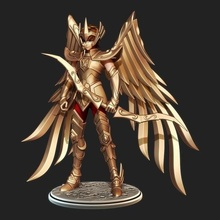 saint seiya aiolos sagittarius game saint seiya aiolos aioros sagittarius sagitario gold armor cdz cavaleiros zodiaco anime figure character miniature collection collectible