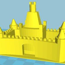 castillo arena molde juguete