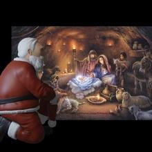 Père Noël claus manger saint cloître homme Noël Père Noël claus Saint Nicolas manger bébé Jésus