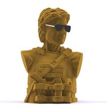 sarah connor bust art sarah connor fan art connor bust decoration sculpture figurine sarah terminator dark fate terminator stl objective