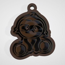 savannah lemur key ring key ring lemur stl savannah child 3d cnc gadget decoration collar