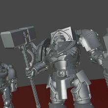 scaf - space chad exterminator edition 40k action figure bjd blood ravens space marine terminator terminators warhammer40k toy