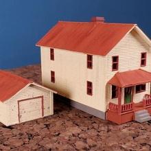 scala 2 storia Casa single macchina box auto n scala struttura n scala edificio n scala modello Ferrovia schierandosi n scala modello Ferrovia