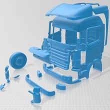 scania r730 stampabile cabina camion scania r730 stampabile cabina camion fessura scalextric tamiya rc miniz Radio controllo passatempo 1 24 1 28 1 32 1 18 crawler deriva ninco volare