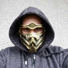 scorpione maschera mortale kombat scorpione maschera