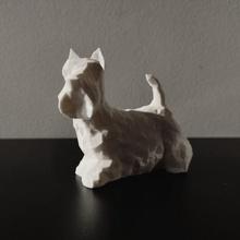 schottisch Terrier Kunst Tiere Tier Hund Lowpoly Skulptur Kunst modern modern Kunst