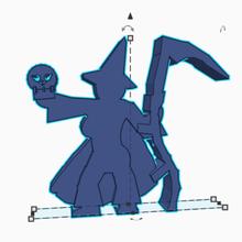 guadaña cráneo wizardess juego meeple rpg de los héroes las miniaturas las cifras minifig flatmini juegos