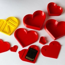 impostato cuore forma scatole San Valentino cuore scatola scheda SD USB bastone cuore forma San Valentino