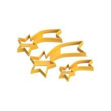 shooting star cookie cutter - cortantes estrella fugaz - pack 3 tool shooting star cookie cutter cortante estrella fugaz stl cortantes estrella navidad estrella fugaz merry christmas
