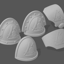 silver guard pads 40k silver guard heresy shoulder pad space marines