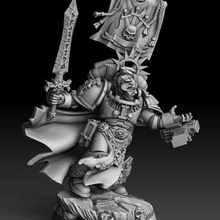 silver wardens purificatus swordmaster presupported warhammer warhammer 40k space marines inquisition grey knights tabletop gaming hobby games miniatures minis warriors sci-fi warriors conversion parts bits weapons